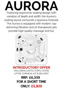 massive savings! introductory offer on our core series hot tubs – aurora