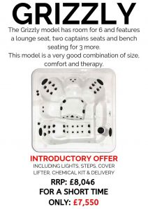 massive savings! introductory offer on our core series hot tubs – grizzly
