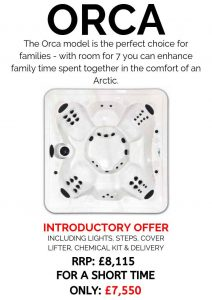 massive savings! introductory offer on our core series hot tubs – orca