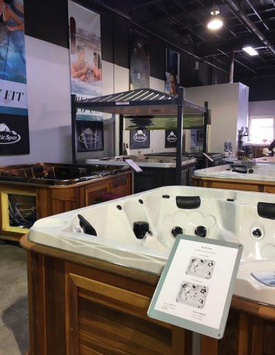 Hot tubs in the arctic spas kamloops showroom