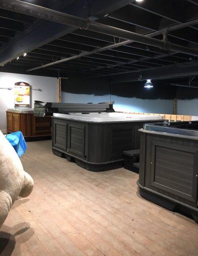 Inside of the arctic spas kamloops showroom